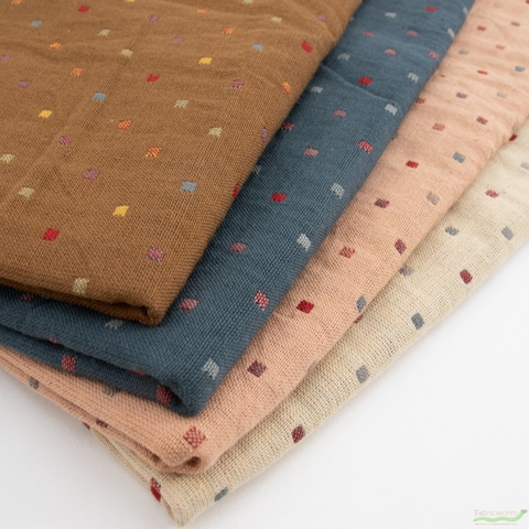 Diamond Textiles, Embroidered Yarn Dyed Wovens, Confetti Spice