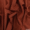 Diamond Textiles, Embroidered Yarn Dyed Wovens, Crosses Paprika