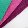 Diamond Textiles, Embroidered Yarn Dyed Wovens, Fence Fuschia