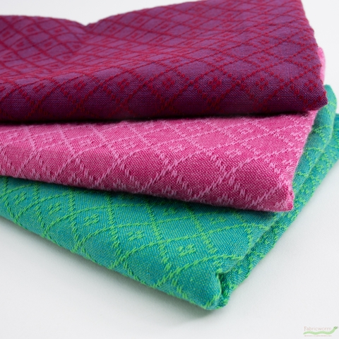 Diamond Textiles, Embroidered Yarn Dyed Wovens, Fence Lagoon
