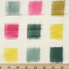 Diamond Textiles, Yarn Dyed Wovens, Ikat Green Pink/ Natural