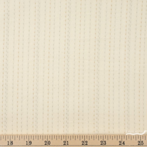 Diamond Textiles, Embroidered Yarn Dyed Wovens, Stitches Buttermilk Fat Quarter
