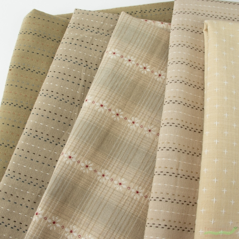 Diamond Textiles, Embroidered Yarn Dyed Wovens, Stitches Stone
