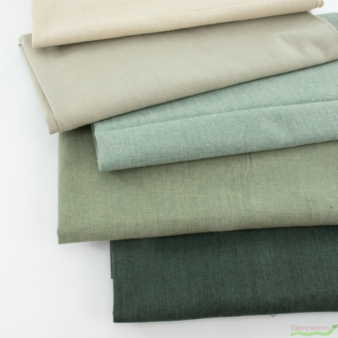 Diamond Textiles, Kent Chambray Yarn Dyed Wovens, Solid Color Warp Bundle 11 Total