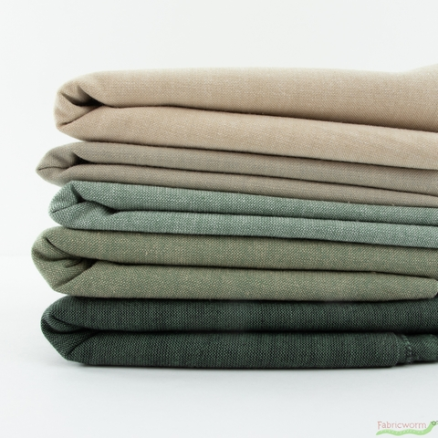 Diamond Textiles, Kent Chambray Yarn Dyed Wovens, Solid Taupe