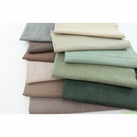 Diamond Textiles, Kent Chambray Yarn Dyed Wovens, Solid Water Chestnut