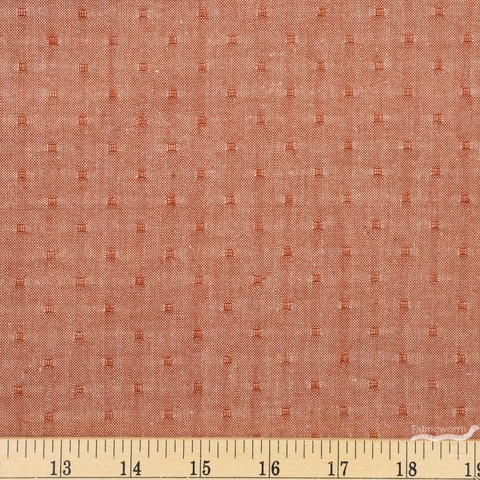 Diamond Textiles, Studio 93 Yarn Dyed Wovens, Box Dot Cinnamon Fat Quarter