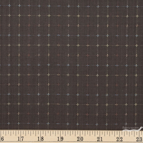 Diamond Textiles, Studio 93 Yarn Dyed Wovens, Cross Grid Grey Fat Quarter