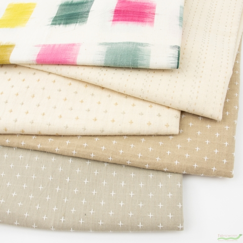 Diamond Textiles, Yarn Dyed Wovens, Creamery in FAT QUARTERS 5 Total