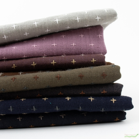 Diamond Textiles, Yarn Dyed Wovens, Crosses in FAT QUARTERS 8 Total