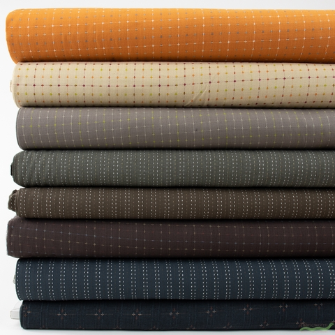 Diamond Textiles, Yarn Dyed Wovens, Longhorn in FAT QUARTERS 8 Total