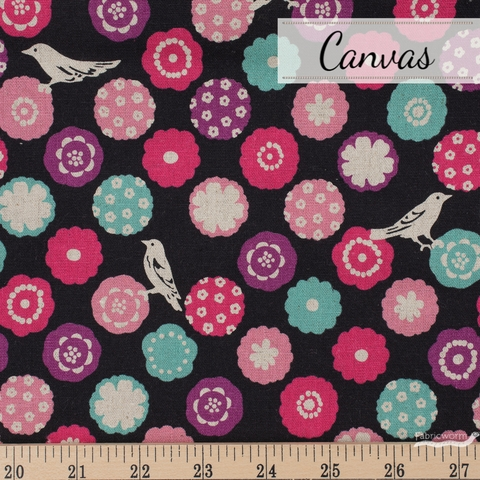 Echino, Winter 2020, Bonbon Black Fat Quarter
