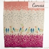 "Echino, Winter 2020 Canvas, Bird Song Pink (36"" Panel)"