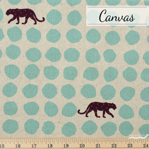 Echino, Winter 2020 Canvas, Panther Seafoam on Natural