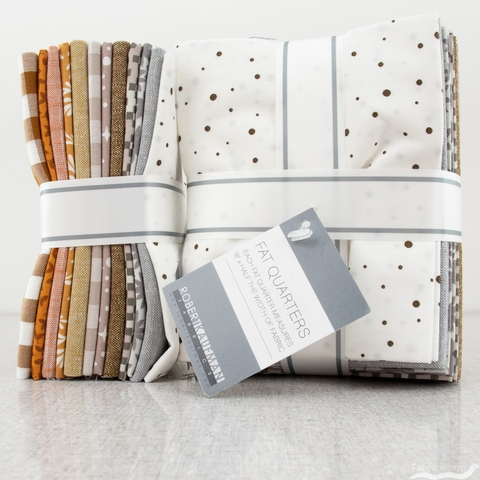 Elizabeth Hartman for Robert Kaufman, Paintbox, Neutral Palette Pre-Cut Fat Quarter Bundle 12 Total