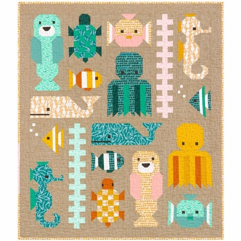 Elizabeth Hartman, Sewing Pattern, Awesome Ocean Quilt