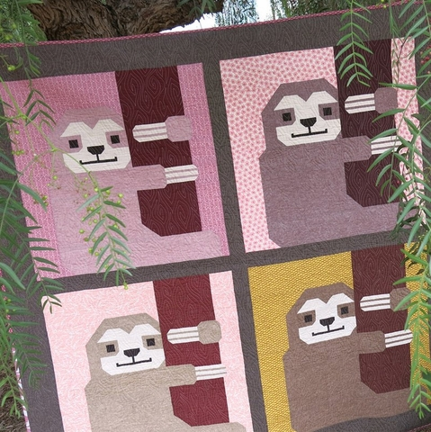 Elizabeth Hartman, Sewing Pattern, Sleepy Sloth Quilt and Pillow Pattern