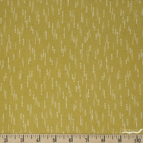 Elizabeth Silver for Camelot Fabrics, Petal Pusher, Arrows Celery
