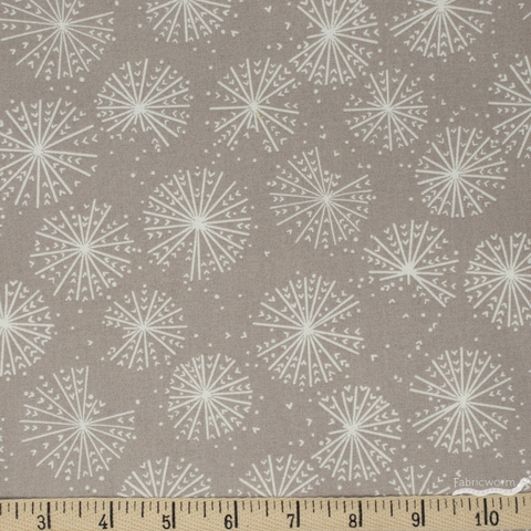 Elizabeth Silver for Camelot Fabrics, Petal Pusher, Blooms Grey
