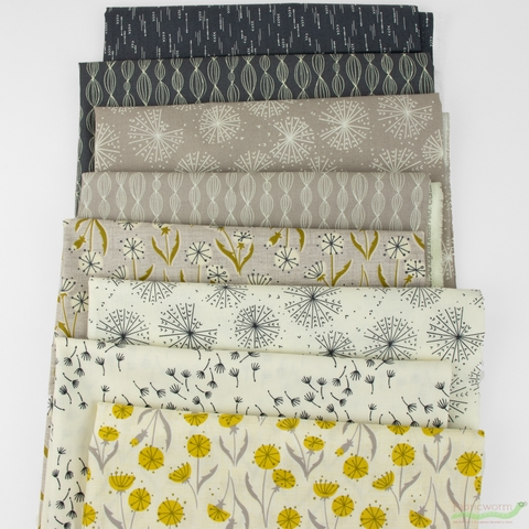 Elizabeth Silver for Camelot Fabrics, Petal Pusher, Blowing Grey