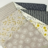 Elizabeth Silver for Camelot Fabrics, Petal Pusher, Geo Charcoal