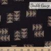 Ellen Baker, Paint Double Gauze, Darts Black Fat Quarter