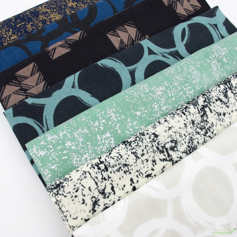 Ellen Baker, Paint Double Gauze in FAT QUARTERS 7 Total (PRECUT)
