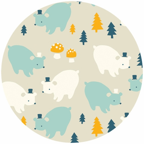 Emily Isabella for Birch Organic Fabrics, Everyday Party, Bear Family