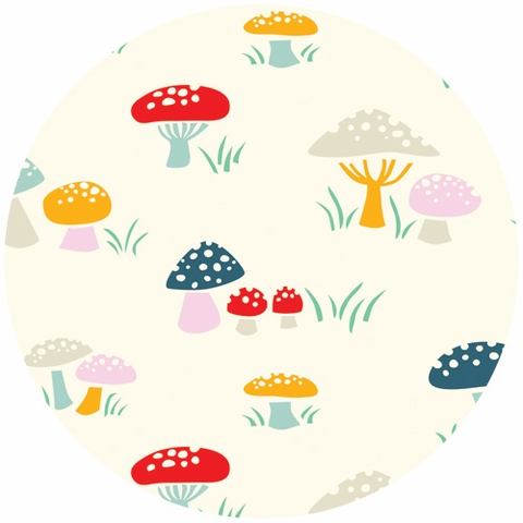 Emily Isabella for Birch Organic Fabrics, Everyday Party, Mushrooms