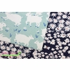 Emily Isabella for Birch Organic Fabrics, Homestead, KNIT, Daisy Bed Storm