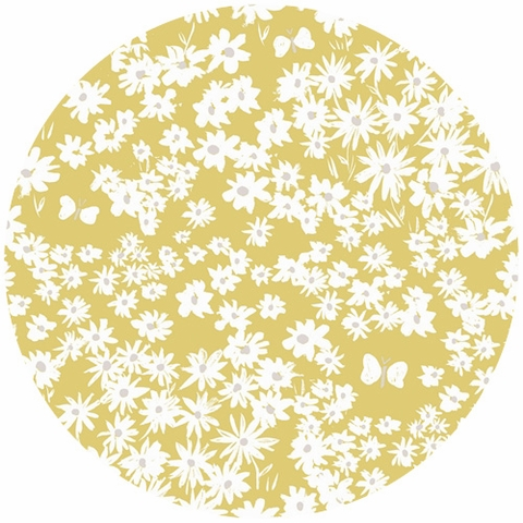 Emily Isabella for Birch Organic Fabrics, Homestead, KNIT, Daisy Bed Sun
