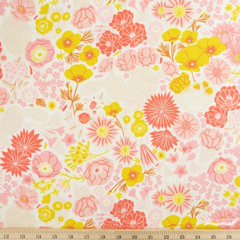 Emily Taylor for FIGO, Prickly Pear, Flowers Pink
