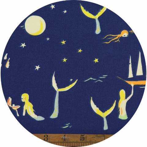 Emily Winfield Martin for Birch Organic Fabrics, Saltwater, Mermaids Night
