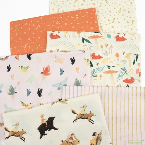 Emily Winfield Martin for Riley Blake, Dream World, Day in FAT QUARTERS 6 Total (PRECUT)
