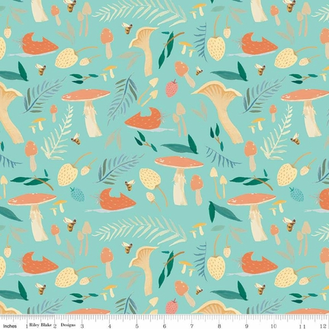 Emily Winfield Martin for Riley Blake, Dream World, Toadstools Mint