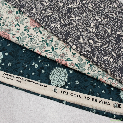Erin McManness for Cotton + Steel, Earth Magic Canvas, It's Cool To Be Kind Hidden Falls