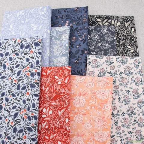 Erin McManness for Cotton + Steel, Earth Magic, New Growth Bundle 9 Total