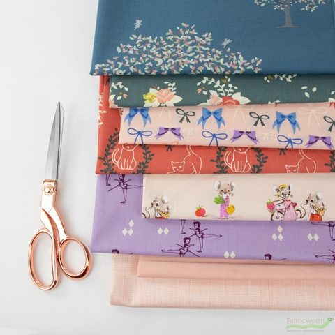 Fabricworm Custom Bundle, Angelina's Ballet in FAT QUARTERS 8 Total