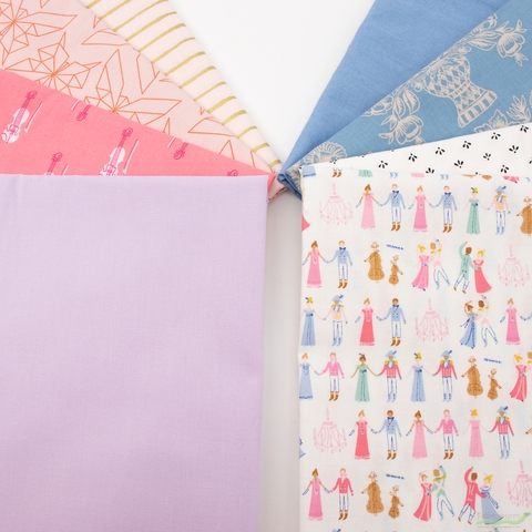 Fabricworm Custom Bundle, Ballroom in HALF YARDS 8 Total