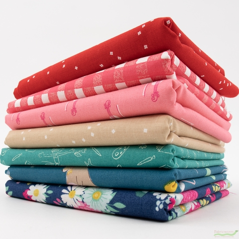 Fabricworm Custom Bundle, Beary Cheer in FAT QUARTERS 7 Total