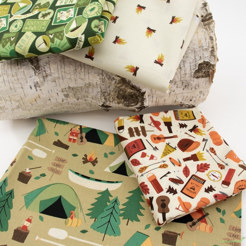 Fabricworm Custom Bundle, Camp Green in FAT QUARTERS 6 Total