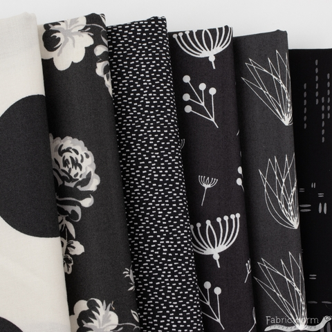 Fabricworm Custom Bundle, Chroma Black in FAT QUARTERS 6 Total