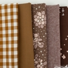 Fabricworm Custom Bundle, Chroma Chestnut in FAT QUARTERS 5 Total (PRECUT)