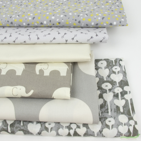 Fabricworm Custom Bundle, Chroma Cloudy in FAT QUARTERS 6 Total