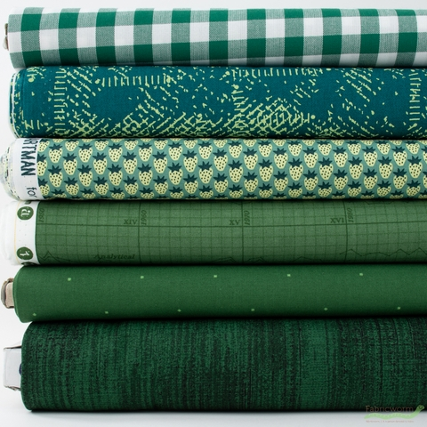 Fabricworm Custom Bundle, Chroma Forest in FAT QUARTERS 6 Total