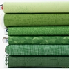 Fabricworm Custom Bundle, Chroma Green in FAT QUARTERS 6 Total (PRECUT)