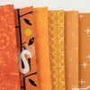Fabricworm Custom Bundle, Chroma Orange in HALF YARDS 6 Total