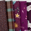 Fabricworm Custom Bundle, Chroma Plum in HALF YARDS 5 Total