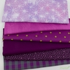 Fabricworm Custom Bundle, Chroma Purple in FAT QUARTERS 6 Total