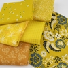 Fabricworm Custom Bundle, Chroma Yellow in FAT QUARTERS 6 Total (PRECUT)